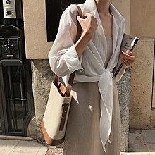 Bellee  正韓  質感優可綁帶混絲罩衫 薄外套   (3色) 【PA6114-49】預購