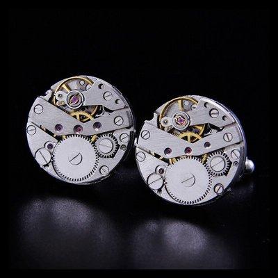 hello小店-C款銀色 法式袖扣 全新機械手表機芯表芯袖釘男士袖口釘#袖扣#裝飾品#飾品#