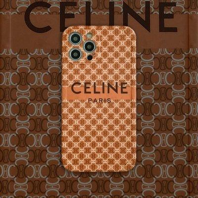 新款手機殼 12promax潮牌celine復古老花xs適用蘋果iphone12mini創意手機殼11