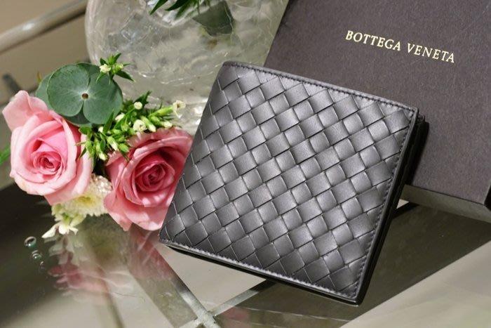 Bottega Veneta 113993 Nero Wallet 編織短夾 黑灰