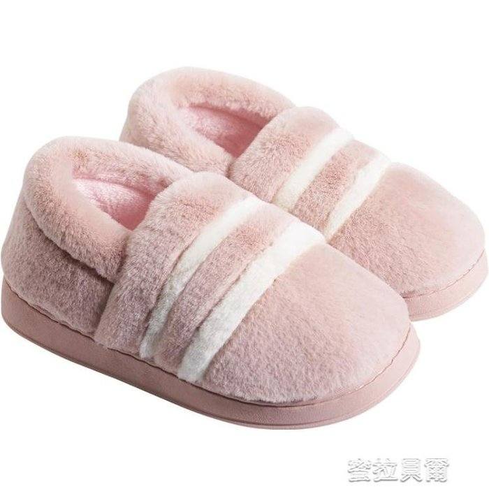 棉拖鞋包跟棉拖鞋女冬季家居防滑保暖月子鞋家用室內產后毛絨棉鞋男冬天蜜拉貝兒