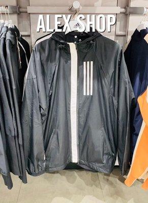 艾力克斯 ADIDAS W.N.D 男 DZ0052 彭于晏 黃鴻升 黑白 防風連帽運動外套 內7