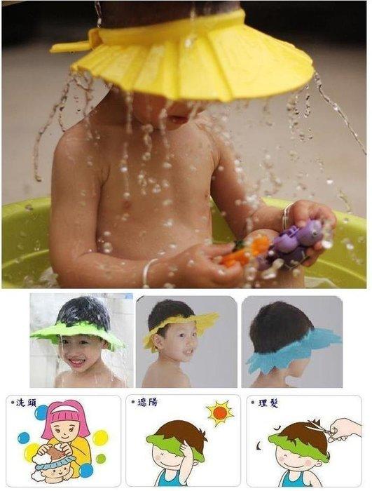 =寵喵百貨= 可調節兒童洗髮帽 寶寶洗髮帽 4段調節洗頭帽 理髮帽 嬰兒浴帽 剪頭帽 兒童浴帽 洗髮套