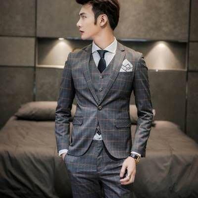 西服套裝含西裝外套+西裝長褲(三件套)-時尚有型紳士型男面試男西裝73hc83[獨家進口][米蘭精品]