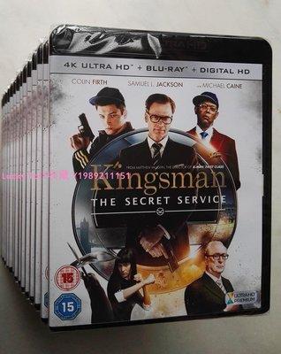 Lucky 1of1收藏正版藍光 Kingsman:The Secret Service 特工學院 4K UHD碟UK