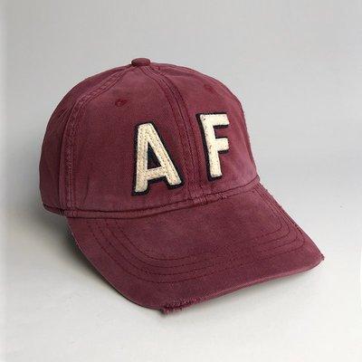 美國百分百【Abercrombie & Fitch】帽子 配件 老帽 AF 棒球帽 經典 麋鹿 Logo 磚紅 G358 新北市