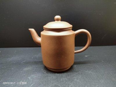 《芷壺軒》早期紫砂壺,82小品,圓筒直壺,年糕土,庚娣款