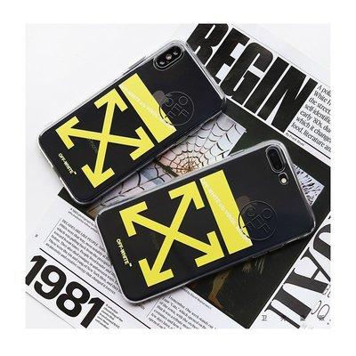 iphone手機殼手機套透明off white潮牌蘋果XSMAX手機殼新款歐美iphone6/7/8硅膠套XR