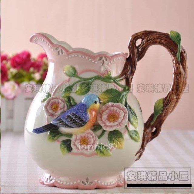 INPHIC-花香鳥語藍鳥花瓶花器花插台面花瓶