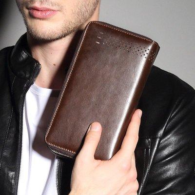 『老兵牛仔』PW9005商務復古時尚手機包/真皮錢包/復古時尚/彈力/耐拉/個性