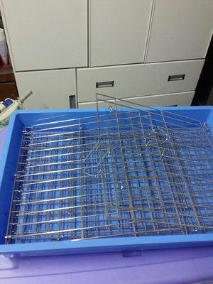 中型電鍍藍盆兔籠