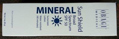 美國原廠原包裝obagi MINERAL Sun Shield Broad spectrum spf50 防曬隔離霜