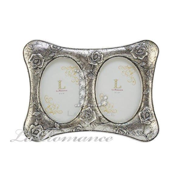【芮洛蔓 La Romance】古銀布紋玫瑰3 x5 組合相框 / 相本 / 照片 / 紀念日 / 結婚禮物