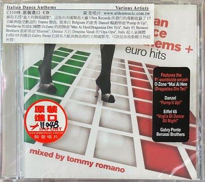 歐登唱片電音音樂 Various Artists (Italian Dance Anthems) (美版全新未拆封)