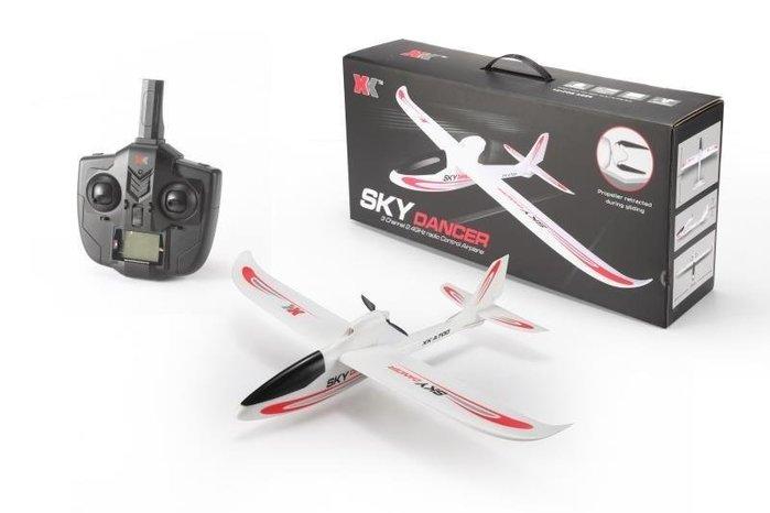【W先生】A700-B XK 3動 3通道 遙控 滑翔機 飛機 後推式 固定翼 摺疊槳