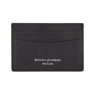 [要預購] 英國代購 ASPINAL OF LONDON 超薄皮革卡夾 黑色