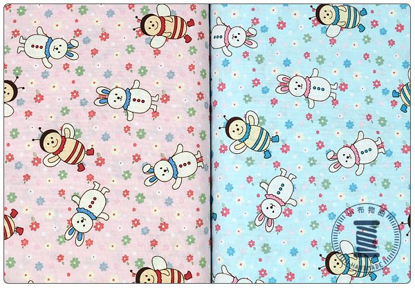 ✿小布物曲✿可愛小蜜蜂 日本進口100%純棉布料質感優 共2色 窄幅110CM 單價/尺