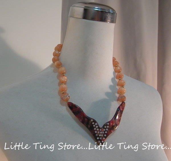 Little Ting Store: 埃及豔后方塊爪水鑽排鑽墜飾短項鍊串鏈珠鎖骨項鍊頸鍊