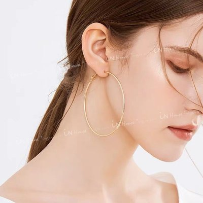 IN House* 現貨 3對1組 套裝 歐美 C型 大小耳圈 耳釘 簡約 耳飾 百搭時髦 金色 耳環