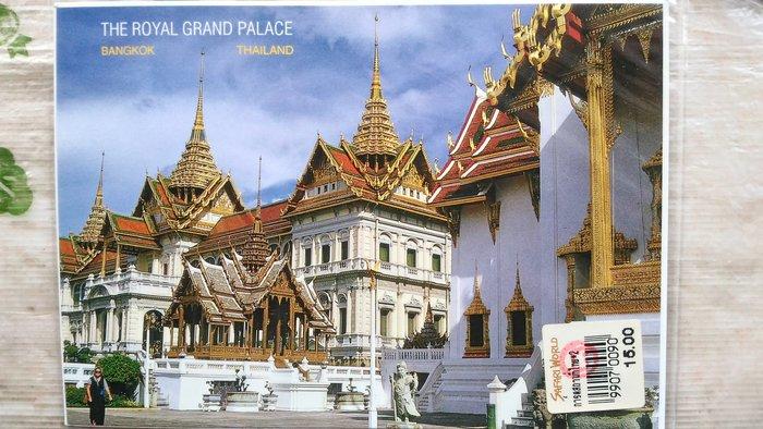 明信片   THE ROYAL GRAND PALACE,BANGKOK THAILAND   泰國 曼谷 宏偉皇宮