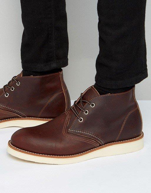 ◎美國代買◎Red Wing白色鞋底車線大圓頭設計鞋帶款圓楦頭踝靴~大尺碼~歐美街風