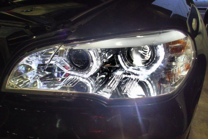 DJD19103016  BMW x5 E70 08-10 E70大燈 高亮度光圈 雙魚眼 遠近魚眼大燈組 B
