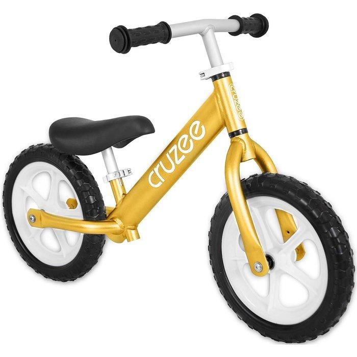 (CRUZEE) 超輕量鋁合金平衡滑步車 Push Bike 金色 (共九色)
