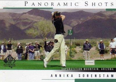 曾雅妮 索倫斯坦 裙擺搖搖 LPGA Annika Sorenstam 2005 GOLF #43 僅此一張