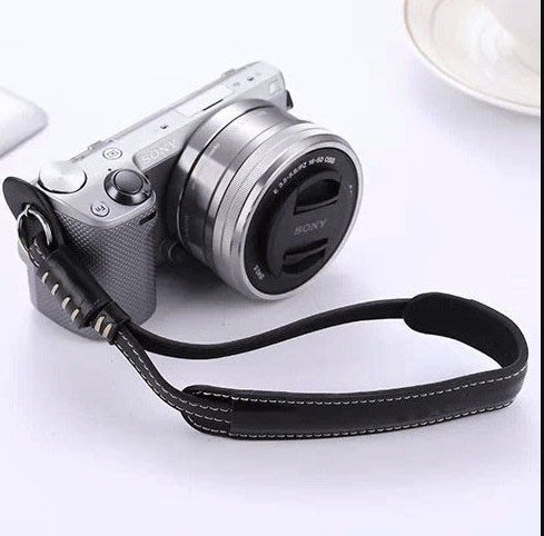 微單相機腕帶 單反相機 雙層牛皮 微單 手腕帶 手帶皮帶_☆優購好SoGood☆