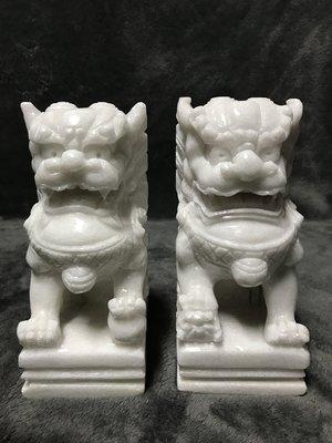 【浪人藝術】~漢白玉石獅 一對**高20cm