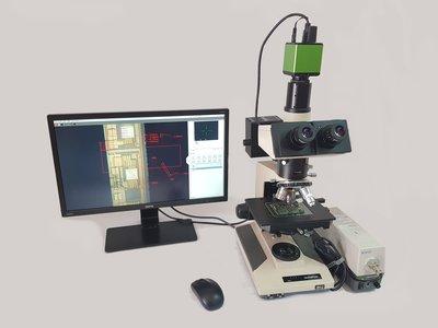BH2金相量測系統,上下光源顯微鏡 附HDMI量測型CCD和螢幕