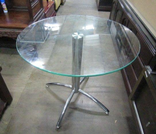 ㊖華威搬家=更新二手倉庫㊖中古玻璃洽談桌休閒桌圓桌餐桌工作桌 寄倉收購回收二手家具