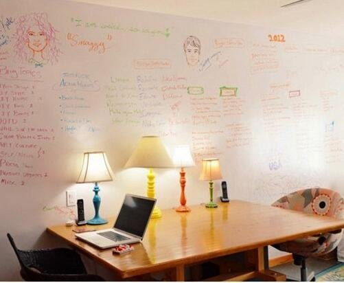 白板墻貼白板貼紙辦公兒童涂鴉墻
