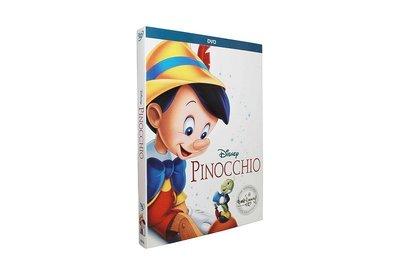 【優品音像】 Pinocchio木偶奇遇記匹諾曹兒童動畫學英語碟片dvd高清純英文原聲 精美盒裝