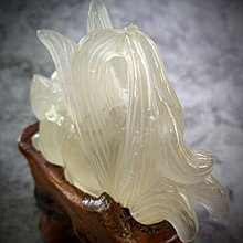 黃水晶 九尾狐+樹根雕座(F15)