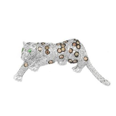 【JHT 金宏總珠寶/GIA鑽石專賣】4.50ct天然鑽石花豹造型胸針/材質:18K(JB44-A07)