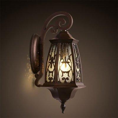 美式仿古壁燈歐式地中海田園復古牆壁鐵藝壁燈