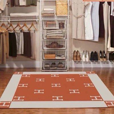 H地毯字母防滑地毯地墊居家裝飾愛馬仕 雕花絨 底面防滑耐磨