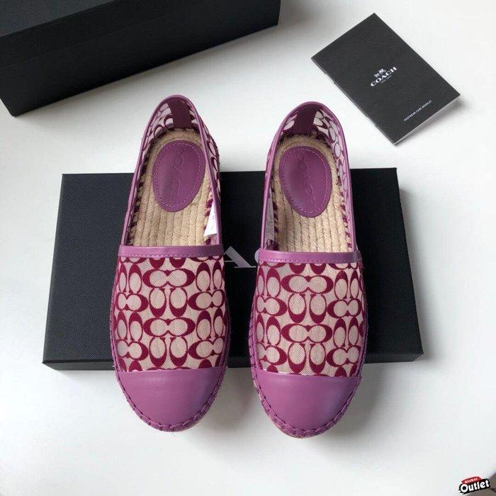【全球購.COM】COACH 寇馳 2020新款 漁夫鞋 滿版LOGO 休閒鞋 時尚精品 美國連線代購