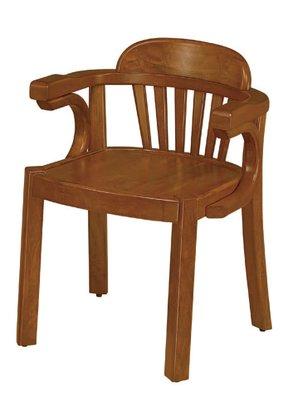 【南洋風休閒傢俱】餐廳家具系列- U型扶手柚木餐椅 用餐椅 (金623-6)