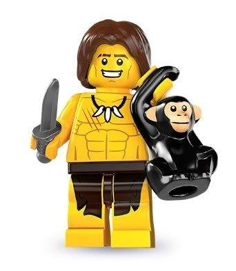 絕版品【LEGO 樂高】玩具 積木/ Minifigures人偶包系列: 7代 8831   森林泰山+小刀+猴子