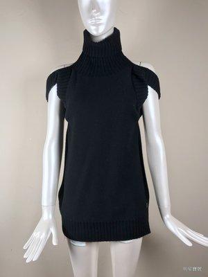 [我是寶琪] 梁詠琪二手商品 SONIA RYKIEL 露背露肩黑色毛衣
