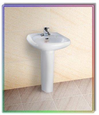 """【工匠家居生活館】摩登衛浴 LF-356 + M-1098 奈米瓷 ( 雙孔 4"""" ) 高級臉盆+長瓷腳 洗臉盆"""