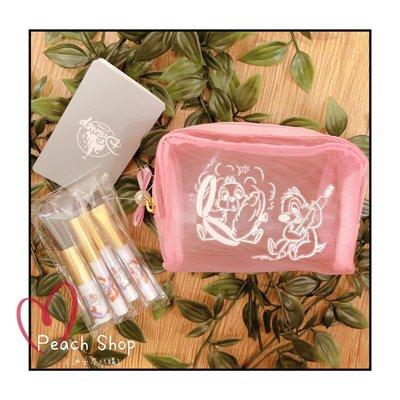 【桃子小舖 ♥ P.S 】奇奇蒂蒂彩妝刷具收納包組 Disney Store