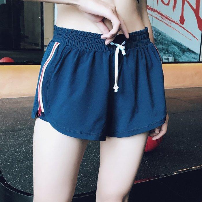 健身服 健身馬甲 速乾服 運動服 跑步服 專業雙層防走光運動短褲女夏時尚側拉鏈吸汗速干跑步健身褲