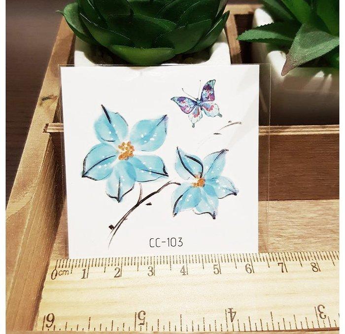 【萌古屋】花朵單圖CC-103 - 防水紋身貼紙刺青貼紙K38