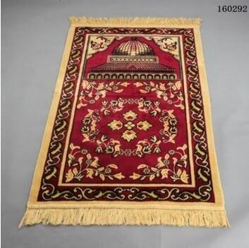 回族回民加大加厚法蘭絨伊斯蘭教禮拜毯穆斯林禱告墊清真寺朝拜毯