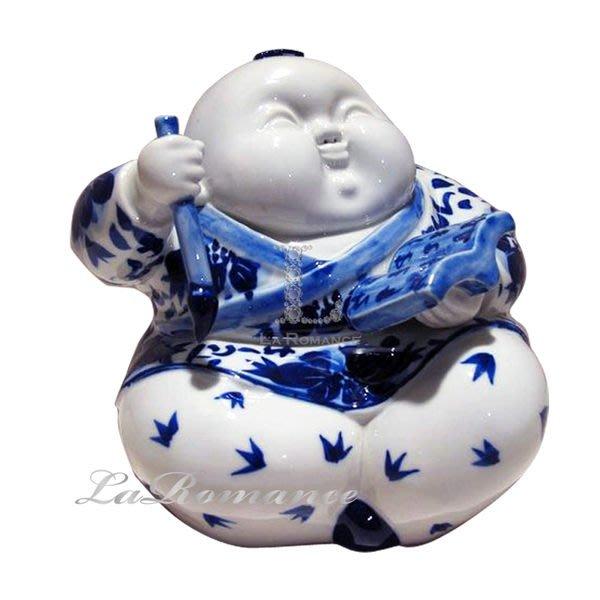 【芮洛蔓 La Romance】 正宗景德鎮青花瓷之雕塑瓷 - 讀書郎 / 人物 / 擺飾 / 送禮
