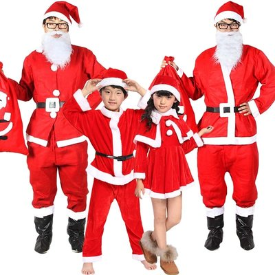 全館免運-聖誕節裝飾品聖誕老人服裝聖誕老爺爺演【MISS ANNA】