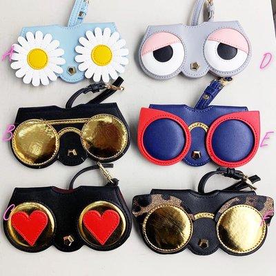 墨鏡太陽眼鏡外真皮內防磨手工眼鏡夾隨身小包-共6款Bali.c@S032806